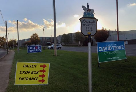 Political Signs outside GTJHS
