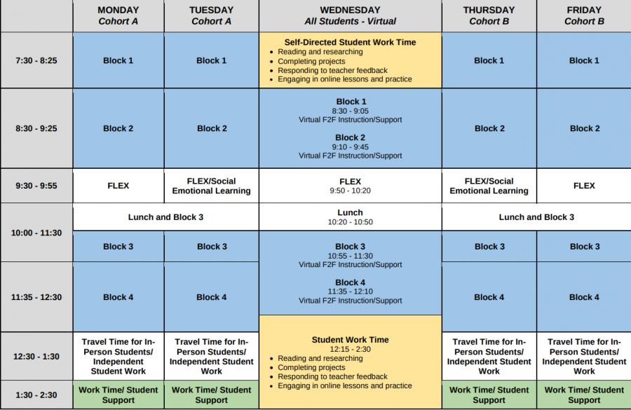 Hybrid Student Schedule